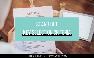Stand Out Key Selection Criteria