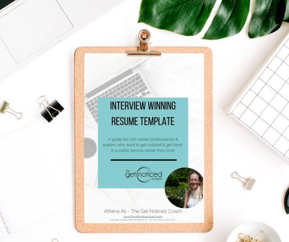 Interview Winning Resume template